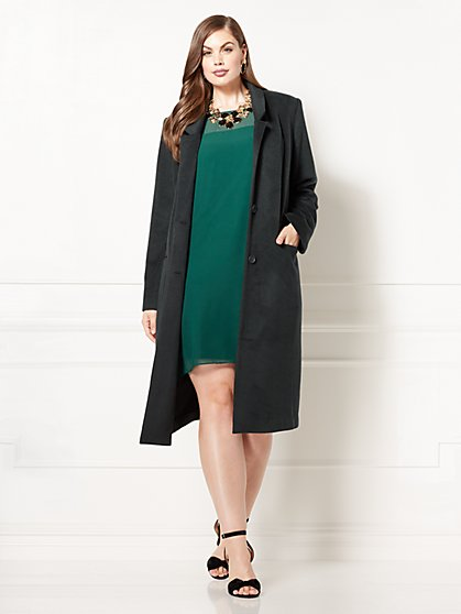 Eva Mendes Collection - Cantabria Wool Coat - Plus - New York & Company