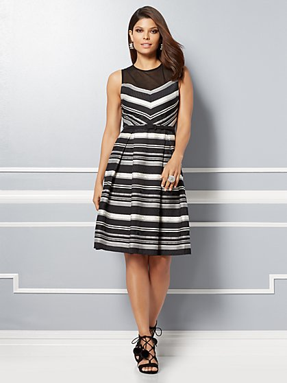 Eva Mendes Collection - Carlita Mesh Fit & Flare Dress - New York & Company