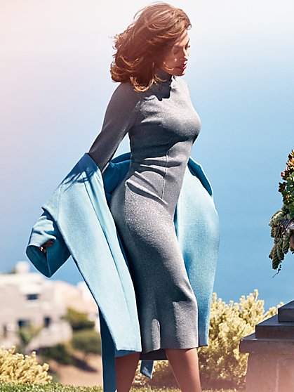 Eva Mendes Collection - Catrina Lurex Sweater Dress  - New York & Company
