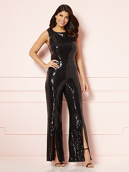 Eva Mendes Collection - Celestina Sequin Jumpsuit - New York & Company