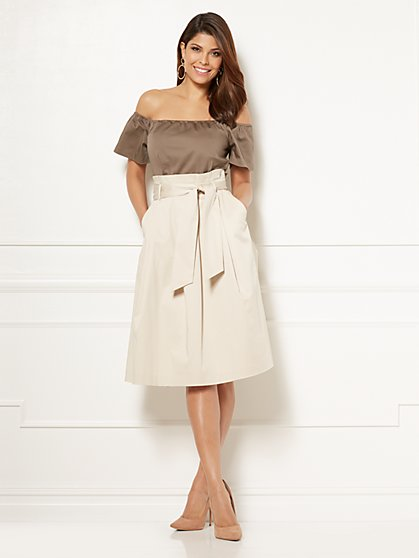 Eva Mendes Collection - Cloe Paperbag-Waist Dress - New York & Company
