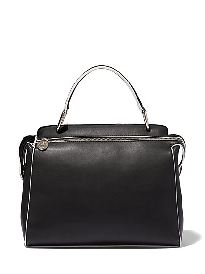 Eva Mendes Collection - Contrast-Edge Satchel  - New York & Company