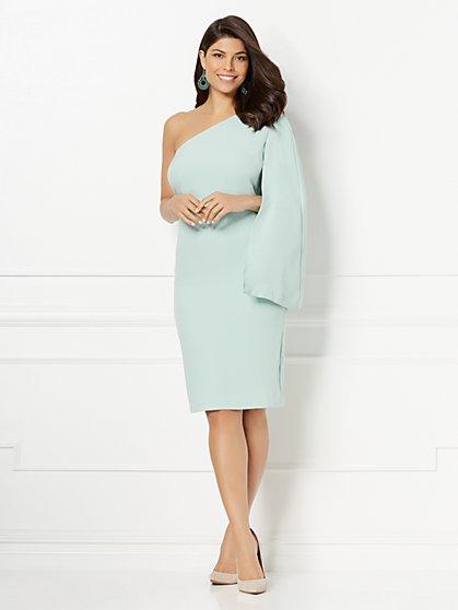 Eva Mendes Collection - Donatella One-Shoulder Cape Dress - New York & Company