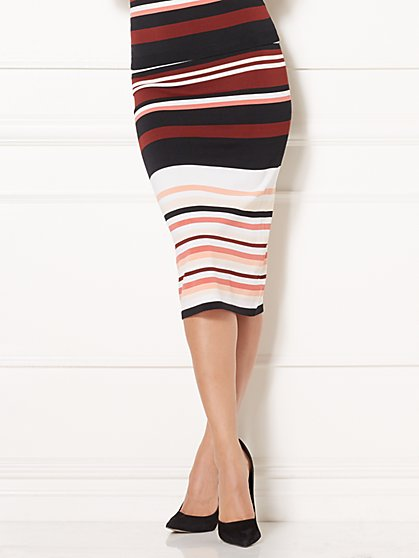 Eva Mendes Collection - Dores Stripe Skirt - New York & Company