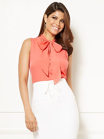 Eva Mendes Collection - Evie Sleeveless Blouse - New York & Company