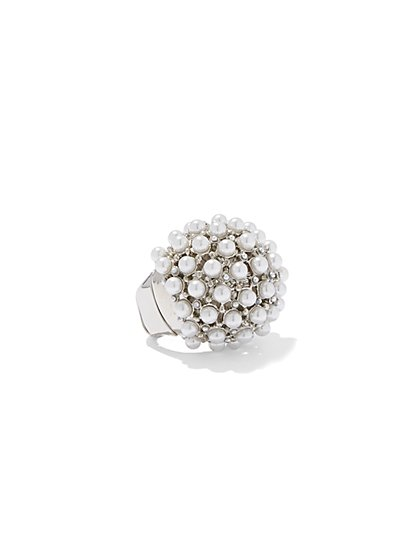 Eva Mendes Collection - Faux-Pearl Cocktail Ring  - New York & Company