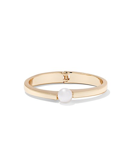 Eva Mendes Collection - Faux-Pearl Hinge Bracelet  - New York & Company