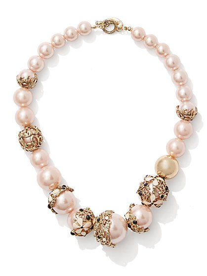 Eva Mendes Collection - Faux-Pearl Necklace  - New York & Company