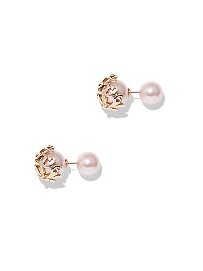 Eva Mendes Collection - Faux-Pearl Post Earring  - New York & Company