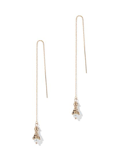 Eva Mendes Collection - Faux-Pearl Pull-Through Earring  - New York & Company