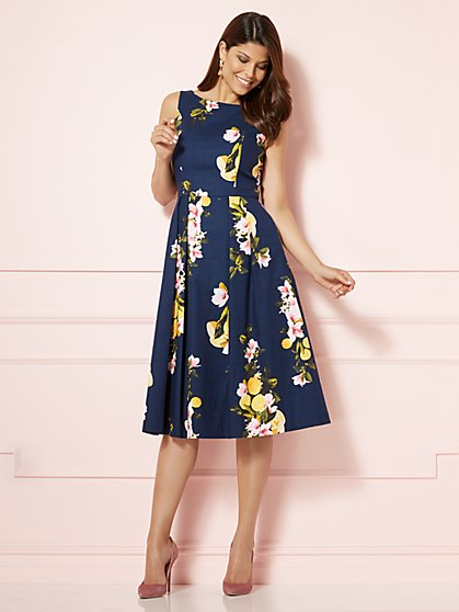 Eva Mendes Collection - Felicity Dress - Navy - New York & Company