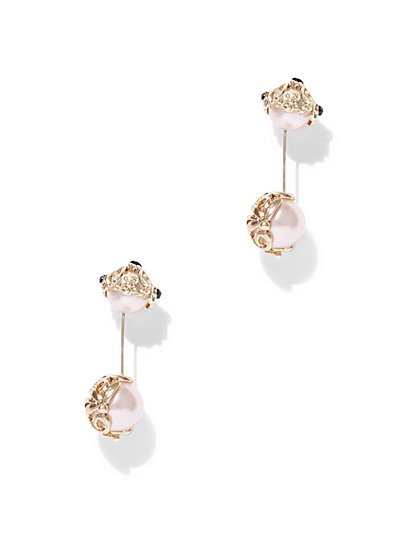 Eva Mendes Collection - Flower Drop Earring  - New York & Company