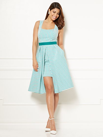 Eva Mendes Collection - Freya Dress - Green Stripe - New York & Company