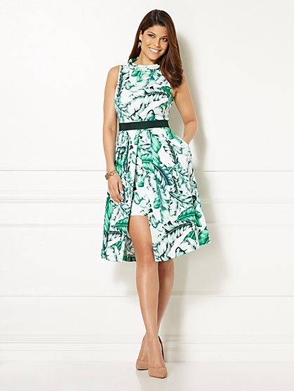 Eva Mendes Collection - Freya Dress - Palm Print - New York & Company