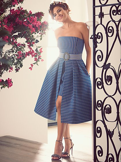 Eva Mendes Collection - Freya Strapless Dress - Grand Sapphire - New York & Company
