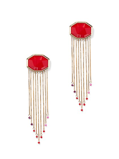 Eva Mendes Collection - Goldtone Fringe Drop Earring - New York & Company