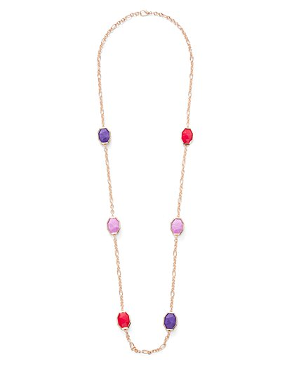 Eva Mendes Collection - Goldtone Station Necklace - New York & Company