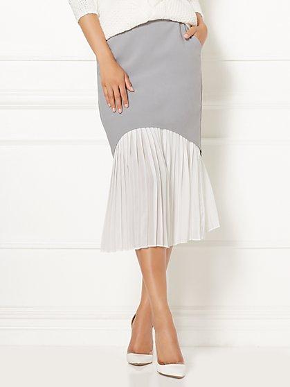 Eva Mendes Collection - Hera Pleated Midi Skirt  - New York & Company