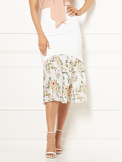 Eva Mendes Collection - Hera Pleated Midi Skirt - New York & Company