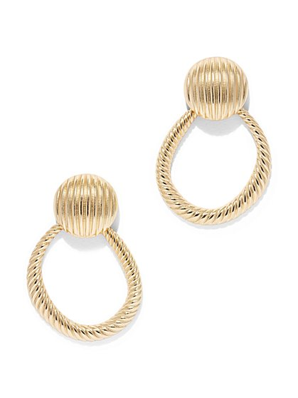 Eva Mendes Collection -  Hoop Drop Earring  - New York & Company