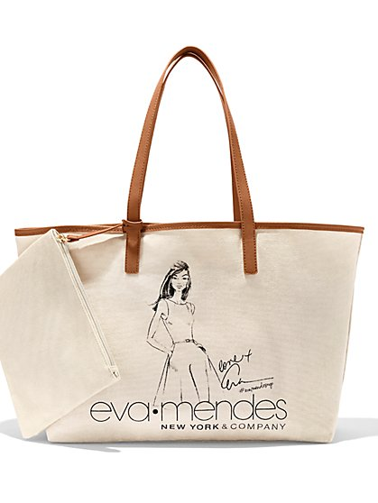 Eva Mendes Collection - Illustrated Tote Bag - New York & Company