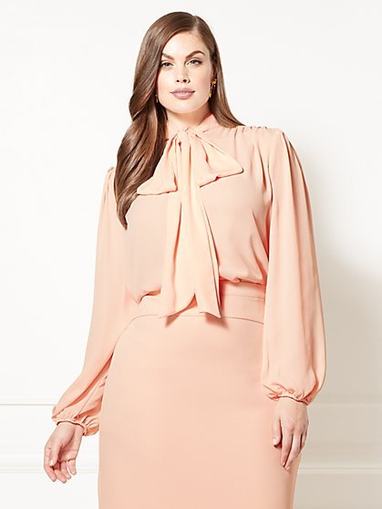 Eva Mendes Collection - Isabella Bow Blouse - Plus - New York & Company