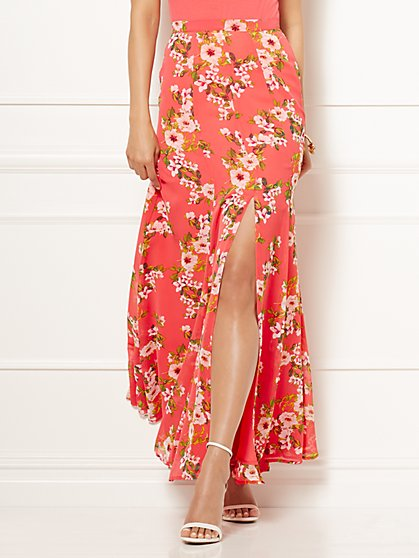 Eva Mendes Collection - Jana Printed Maxi Skirt - Petite - New York & Company