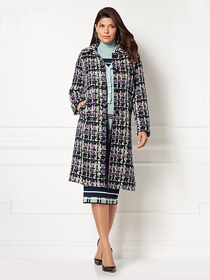 Eva Mendes Collection - Jenia Tweed Coat - New York & Company