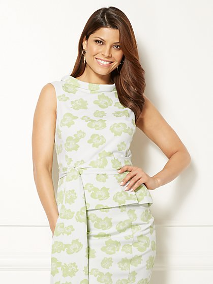 Eva Mendes Collection - Joana Peplum Top - New York & Company