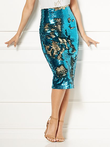 Eva Mendes Collection - Joula Sequin Skirt - New York & Company