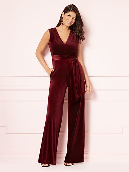 Eva Mendes Collection - Kaia Velvet Jumpsuit - New York & Company
