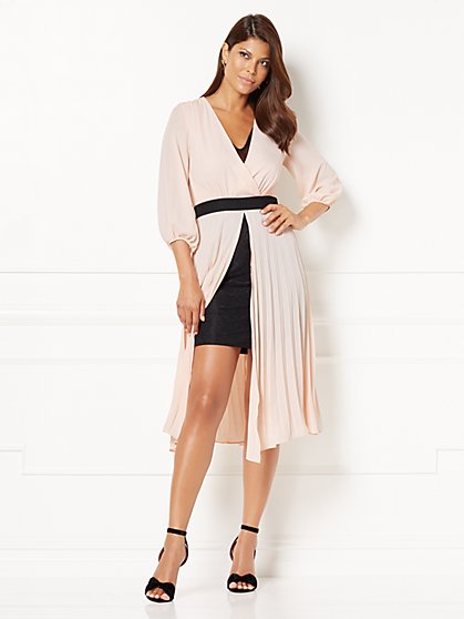Eva Mendes Collection - Krysta Pleated Overlay Dress - New York & Company