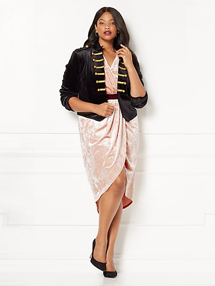 Eva Mendes Collection - Krysta Velvet Military Jacket - Plus - New York & Company