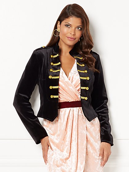Eva Mendes Collection - Krysta Velvet Military Jacket  - New York & Company