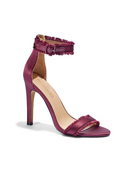 Eva Mendes Collection - Lucine Frayed Ankle-Strap Sandal  - New York & Company