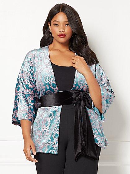 Eva Mendes Collection - Manu Embellished Kimono Jacket - Plus - New York & Company