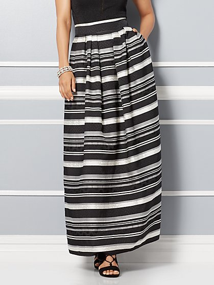 Eva Mendes Collection - Mari Jacquard Skirt - Stripe - New York & Company