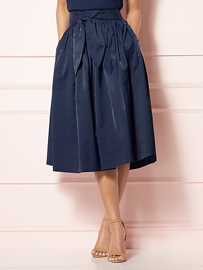 Eva Mendes Collection - Mari Tie-Waist Midi Skirt  - New York & Company