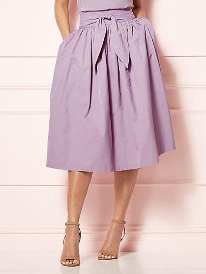 Eva Mendes Collection - Mari Tie-Waist Midi Skirt  - New York & Company