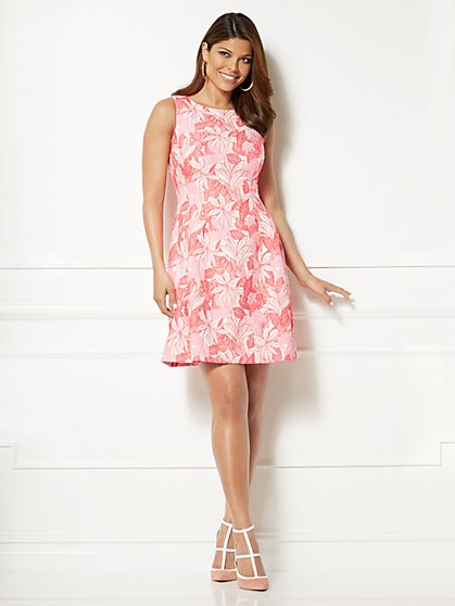 Eva Mendes Collection - Maria Jacquard Dress - Leaf Print - New York & Company