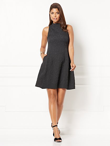 Eva Mendes Collection - Maria Jacquard Flare Dress - New York & Company