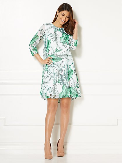 Eva Mendes Collection - Maribel Dress - Palm Leaf Print - New York & Company