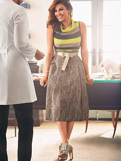 Eva Mendes Collection - Matilda Paperbag-Waist Midi Skirt - New York & Company