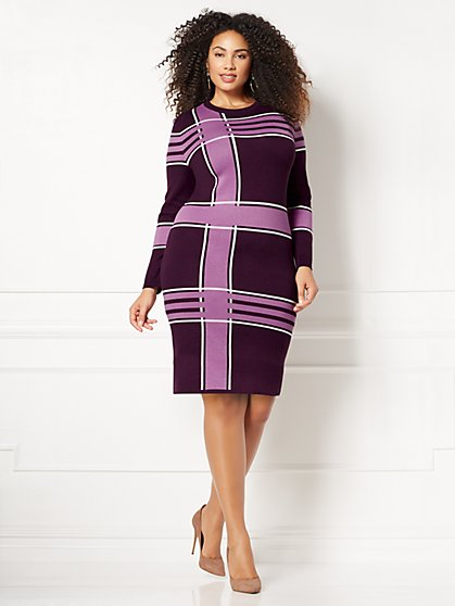Eva Mendes Collection - Melina Sweater Dress - Plus - New York & Company