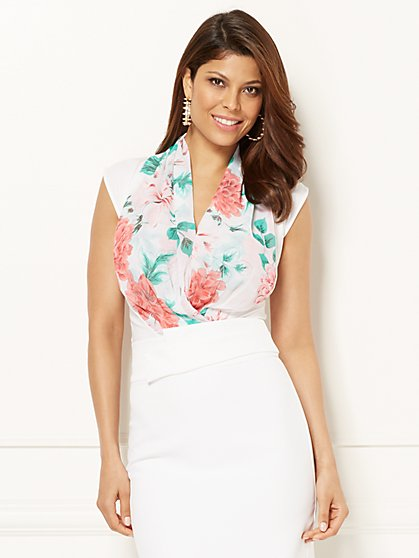 Eva Mendes Collection - Mila Bodysuit - Floral - New York & Company