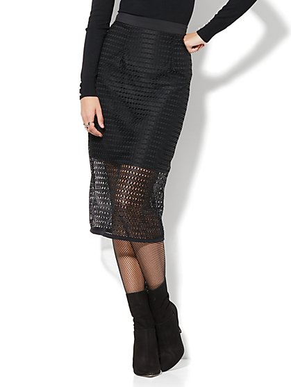 Eva Mendes Collection - Milana Mesh Skirt - New York & Company