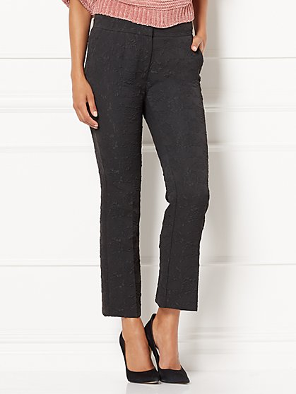 Eva Mendes Collection - Nara Crop Jacquard Pant - New York & Company