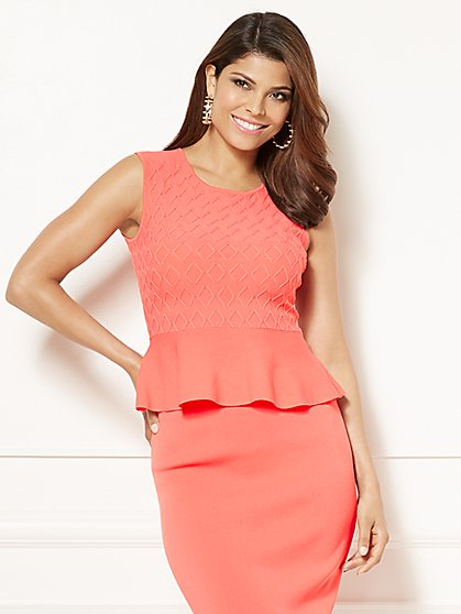 Eva Mendes Collection - Nora Peplum Sweater - New York & Company