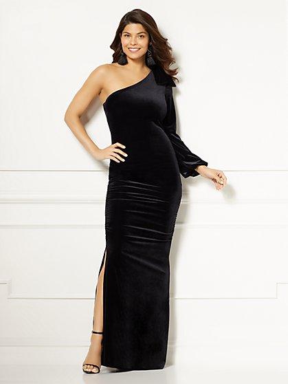 Eva Mendes Collection - Oksana One-Shoulder Maxi Dress - New York & Company