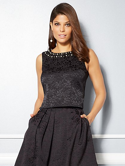Eva Mendes Collection - Pearl Trim Maddie Top - New York & Company